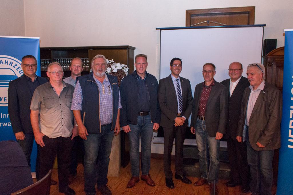 Der Vorstand der KFZ Innung Ahrweiler bei der Jahreshauptversammlung