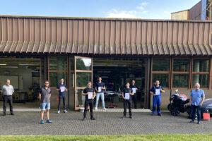 Sechs neue Gesellen im KFZ Handwerk der Innung Ahhrweiler